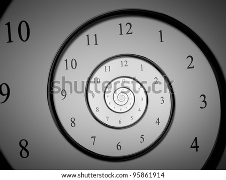 An image of a dark droste time spiral - stock photo