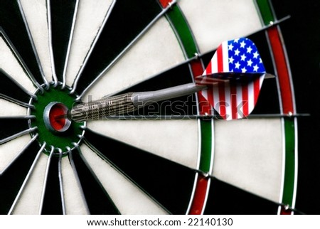 an image of a dart board with a dart in the very middle