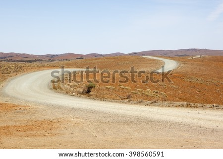 An image of a desert dirt road in Australia