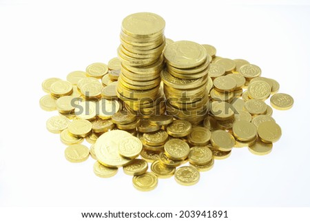 An Image of A Gold Coin - stock photo