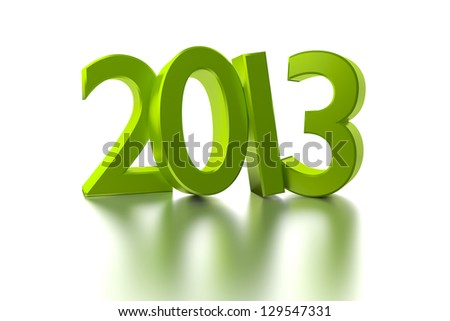 An image of a green number 2013