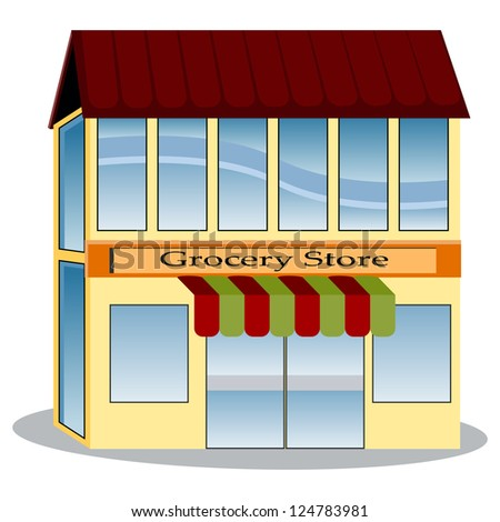 An image of a grocery store. - stock photo