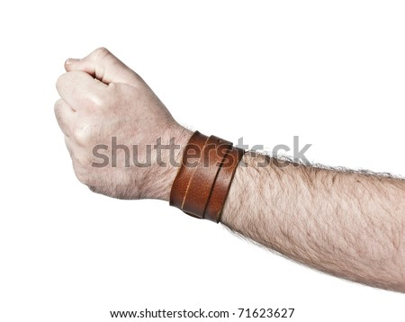 An image of a hairy male fist - stock photo