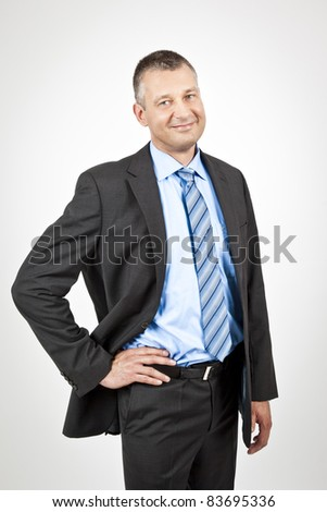 An image of a handsome business man - stock photo