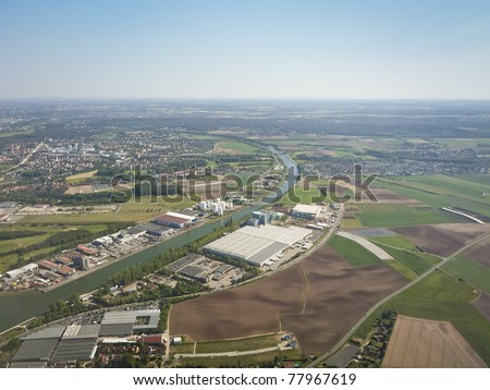 An image of a landing at Nuremberg airport - stock photo