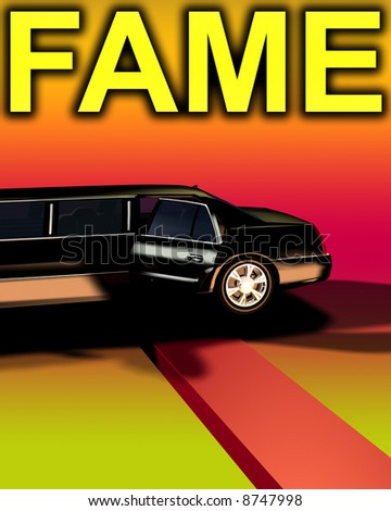 An image of a Limousine with a red carpet, useful for concepts involving fame and movie premieres.