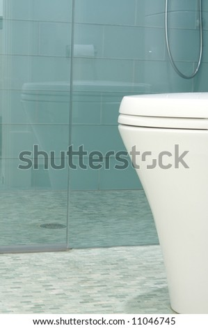 an image of a Luxury bathroom designed in modern style - stock photo