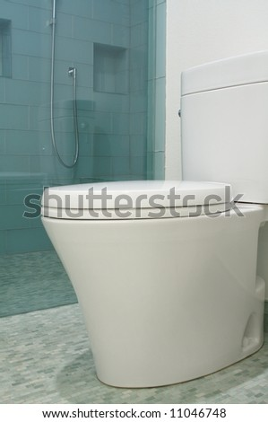 an image of a Luxury bathroom designer toilet in modern style - stock photo