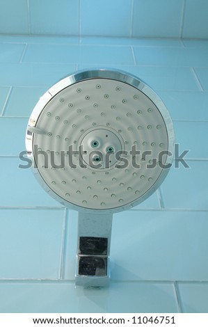 an image of a Luxury bathroom shower head in modern style - stock photo