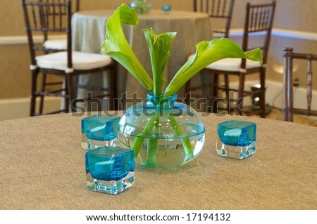 An image of a modern upscale table centerpiece - stock photo