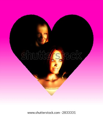 An image of a mother and daughter, this image would be suitable for Mothers Day concepts. - stock photo