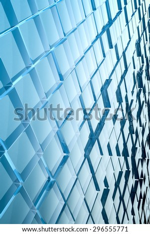 An image of a nice abstract glass cubes background - stock photo