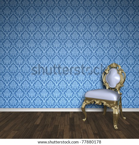An image of a nice baroque room - stock photo