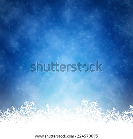 An image of a nice blue christmas background - stock photo