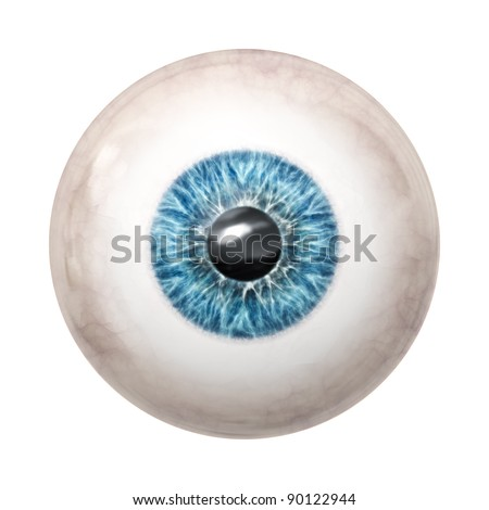 An image of a nice blue eye ball - stock photo
