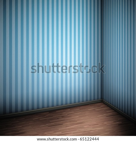 An image of a nice blue room for your content - stock photo