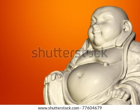 An image of a nice buddha sculpture - stock photo