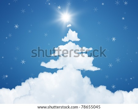 An image of a nice christmas background - stock photo