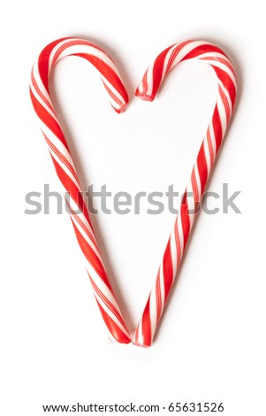 An image of a nice christmas candy heart - stock photo