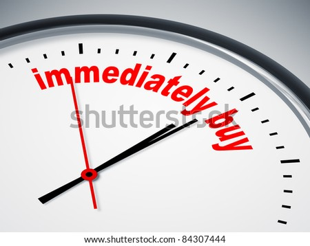 An image of a nice clock with immediately buy