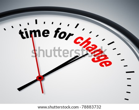 An image of a nice clock with time for change - stock photo
