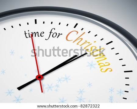 An image of a nice clock with time for christmas