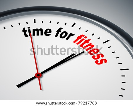 An image of a nice clock with time for fitness - stock photo