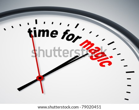 An image of a nice clock with time for magic
