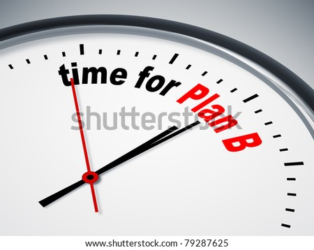 An image of a nice clock with time for Plan B - stock photo