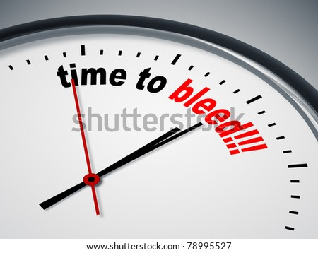 An image of a nice clock with time to bleed