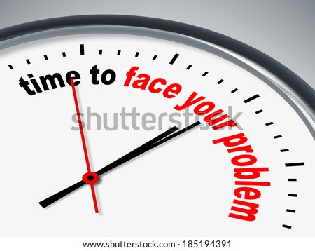 An image of a nice clock with time to face your problem - stock photo