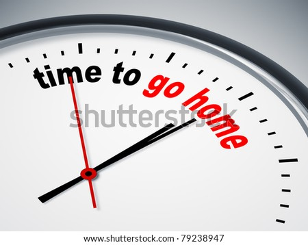 An image of a nice clock with time to go home - stock photo