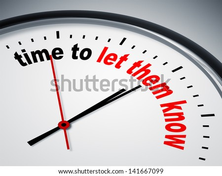 An image of a nice clock with time to let them know