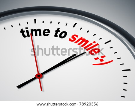 An image of a nice clock with time to smile