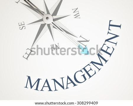 An image of a nice compass with the word management - stock photo