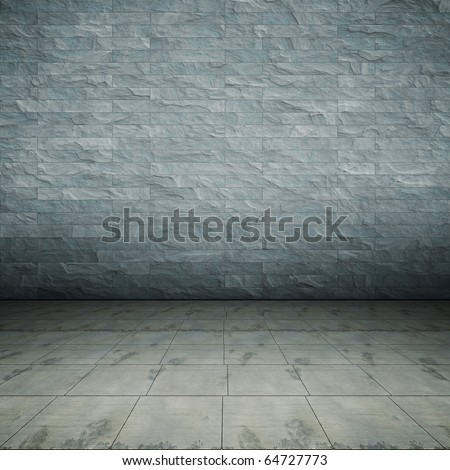 An image of a nice concrete floor for your content - stock photo