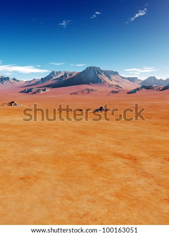 An image of a nice desert scenery - stock photo