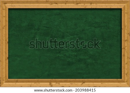 An image of a nice green chalkboard