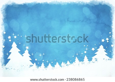 An image of a nice grunge blue christmas background - stock photo