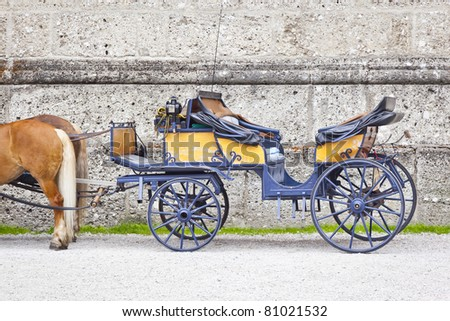 An image of a nice horse drawn carriage - stock photo