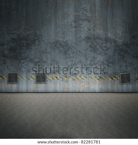 An image of a nice old steel room for your content - stock photo