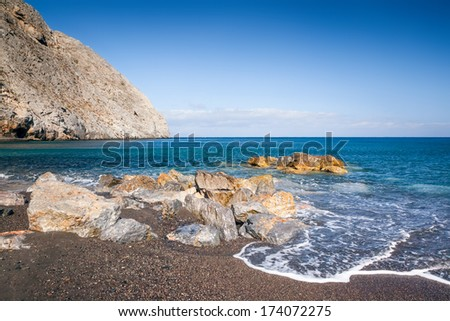 An image of a nice Santorini beach