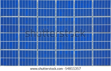 An image of a nice solar panel texture - stock photo