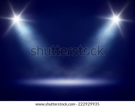 An image of a nice stage lights - stock photo
