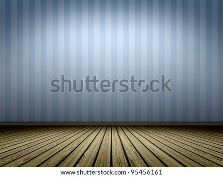An image of a nice vintage blue room - stock photo