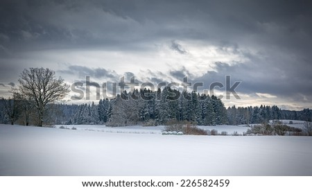 An image of a nice winter scenery - stock photo