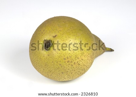 An image of a pear isolated against a white background