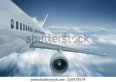 An image of a plane turbine - stock photo