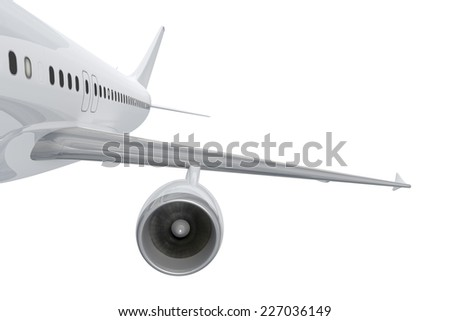 An image of a plane turbine isolated on white - stock photo