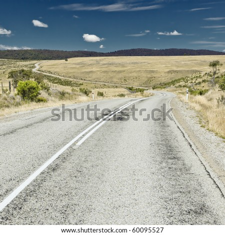 An image of a road in Australia - stock photo